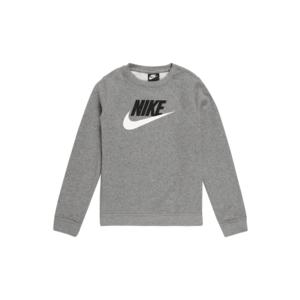 Nike Sportswear Bluză de molton 'Club Futura' gri / negru / alb imagine