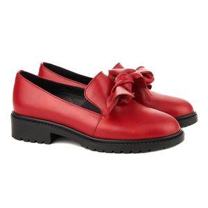 Pantofi dama piele cu funda 1274 imagine