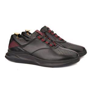 Pantofi barbati casual din piele naturala neagra 1017 imagine