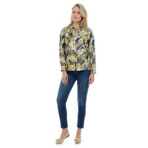 Bluza Dama Verde si Imprimeu cu Flori imagine