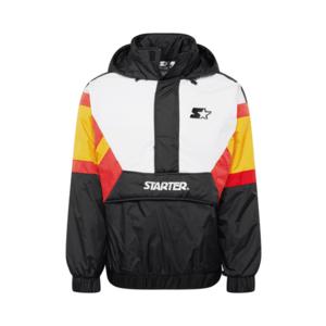 Starter Black Label Geacă de primăvară-toamnă negru / alb / roșu / galben imagine