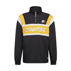 Starter Black Label Geacă de primăvară-toamnă negru / galben / alb imagine
