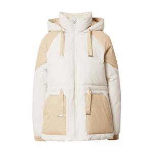 Calvin Klein Jeans Geacă de iarnă bej / alb imagine