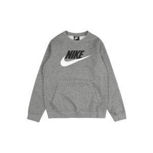 Nike Sportswear Bluză de molton gri / negru / alb imagine