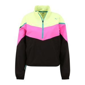 PUMA Jachetă de trening 'FIRST MILE Xtreme' negru / roz / verde închis / lămâie imagine