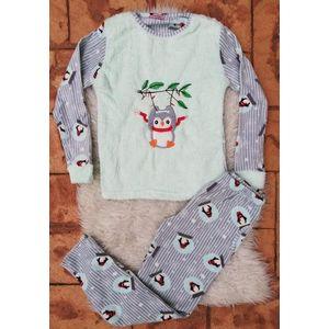 Pijama de dama model Scarf Turcoaz imagine