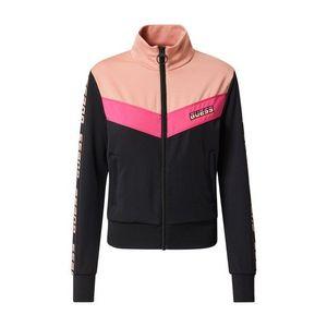 GUESS Bluză cu fermoar sport roz / negru imagine