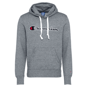 Champion Authentic Athletic Apparel Bluză de molton gri închis / alb / negru imagine