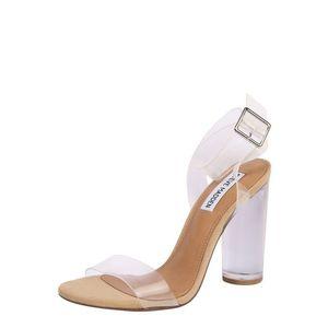 STEVE MADDEN Sandale 'CLEARER' transparent / bej imagine