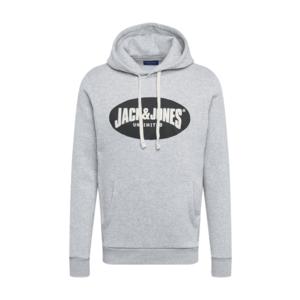 JACK & JONES Bluză de molton gri / negru / alb imagine
