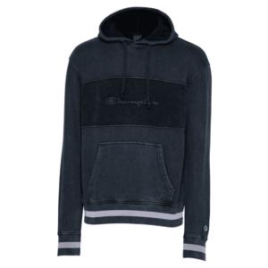 Champion Authentic Athletic Apparel Bluză de molton alb / denim negru / negru imagine