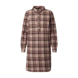 Trendyol Rochie tip bluză roșu vin / negru / maro deschis imagine