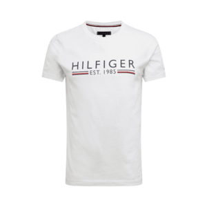 TOMMY HILFIGER Tricou alb / albastru porumbel / roşu închis imagine