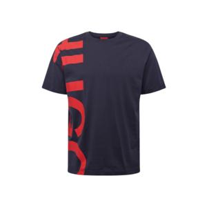 HUGO Tricou 'DAWS211' bleumarin / roșu imagine