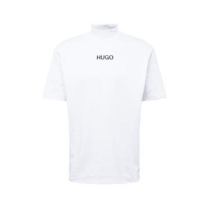 HUGO Tricou 'DAKAYO211' alb / negru imagine