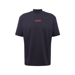 HUGO Tricou 'DAKAYO' navy / roșu neon imagine
