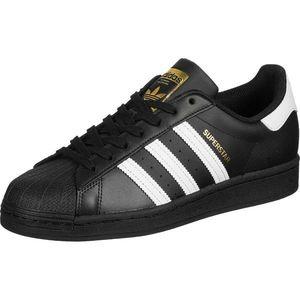 ADIDAS ORIGINALS Sneaker low 'SUPERSTAR' negru / alb / auriu imagine