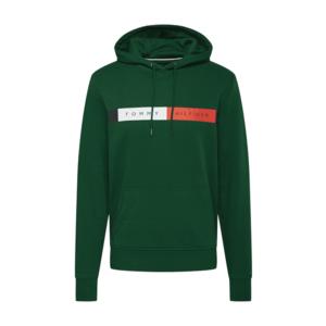 TOMMY HILFIGER Bluză de molton verde / alb / navy / roșu imagine