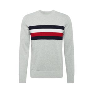 TOMMY HILFIGER Bluză de molton gri / navy / alb / roșu imagine