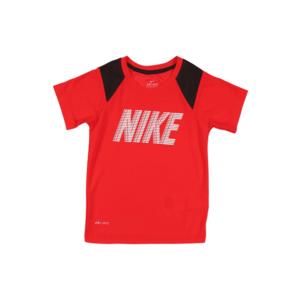 NIKE Tricou funcțional roșu / negru / alb imagine