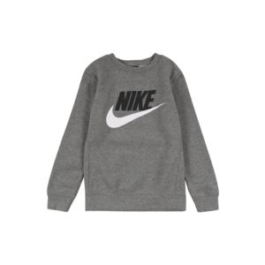 Nike Sportswear Bluză de molton negru / gri / alb imagine