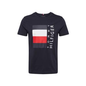 TOMMY HILFIGER Tricou albastru închis / alb / roșu imagine