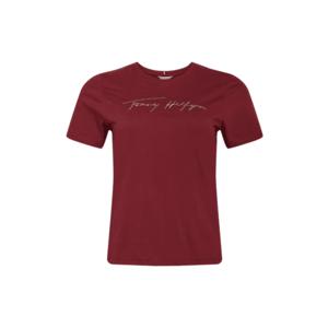 Tommy Hilfiger Curve Tricou roşu închis / auriu imagine