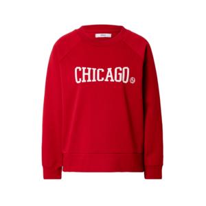 ONLY Bluză de molton 'CHICAGO' roșu / alb imagine