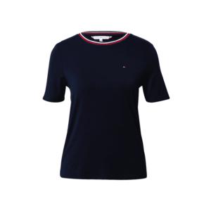 TOMMY HILFIGER Tricou 'BREE' albastru închis / alb / roșu imagine
