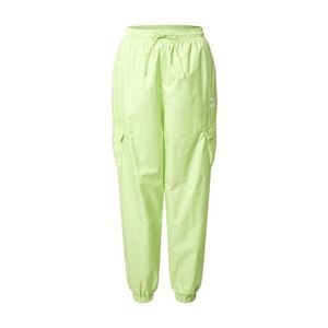 PUMA Pantaloni cu buzunare verde neon imagine