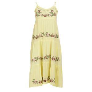 usha FESTIVAL Rochie de vară galben deschis / homar / verde iarbă / roz vechi imagine