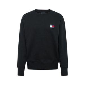 Tommy Jeans Bluză de molton negru / alb / roșu / navy imagine
