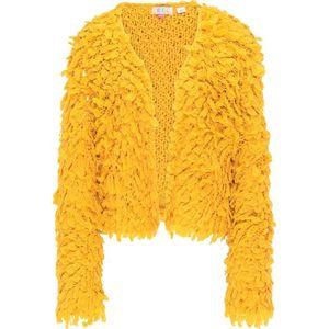 IZIA Geacă tricotată galben imagine