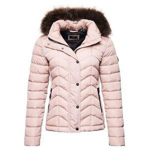 Superdry Geacă de iarnă roz imagine