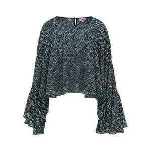 MYMO Bluză verde / bej / negru imagine