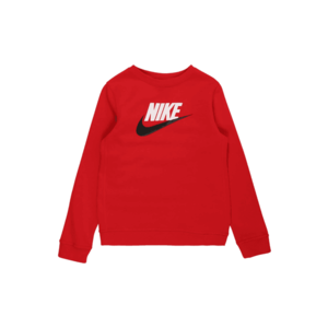 Nike Sportswear Bluză de molton roșu / alb / negru imagine