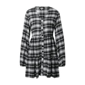 Missguided Rochie tip bluză negru / alb / gri imagine
