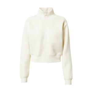 GUESS Bluză cu fermoar sport alb imagine