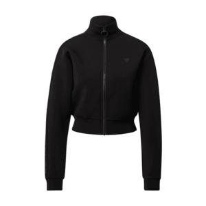 GUESS Bluză cu fermoar sport negru imagine