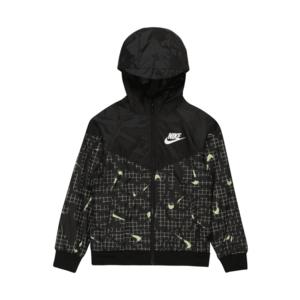 Nike Sportswear Geacă de primăvară-toamnă negru / verde neon / alb imagine