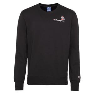 Champion Authentic Athletic Apparel Bluză de molton negru / alb / roșu / albastru deschis imagine