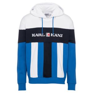Karl Kani Bluză de molton alb / navy / albastru imagine