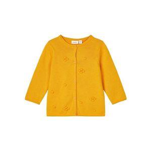 NAME IT Geacă tricotată galben imagine