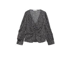 MANGO Bluză 'Rony' negru / alb imagine