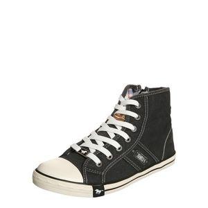 MUSTANG Sneaker înalt negru / alb / maro imagine