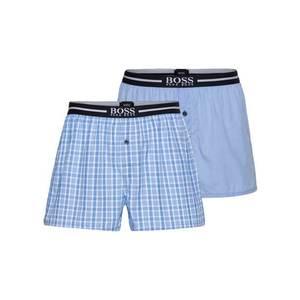 BOSS Casual Boxeri albastru deschis / alb imagine