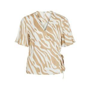 OBJECT Bluză bej / alb imagine
