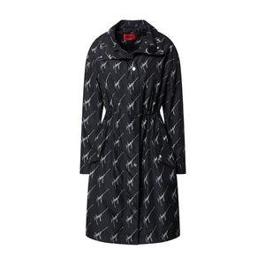 HUGO Palton de primăvară-toamnă 'Felin' alb / negru imagine
