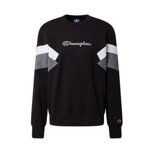 Champion Authentic Athletic Apparel Bluză de molton negru / alb / gri amestecat / roșu / navy imagine