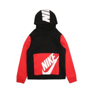 Nike Sportswear Bluză de molton roșu / negru / alb imagine